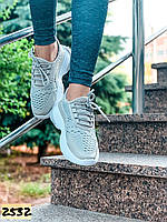 Женские летние дышащие кроссовки серые 37,38,41 размер