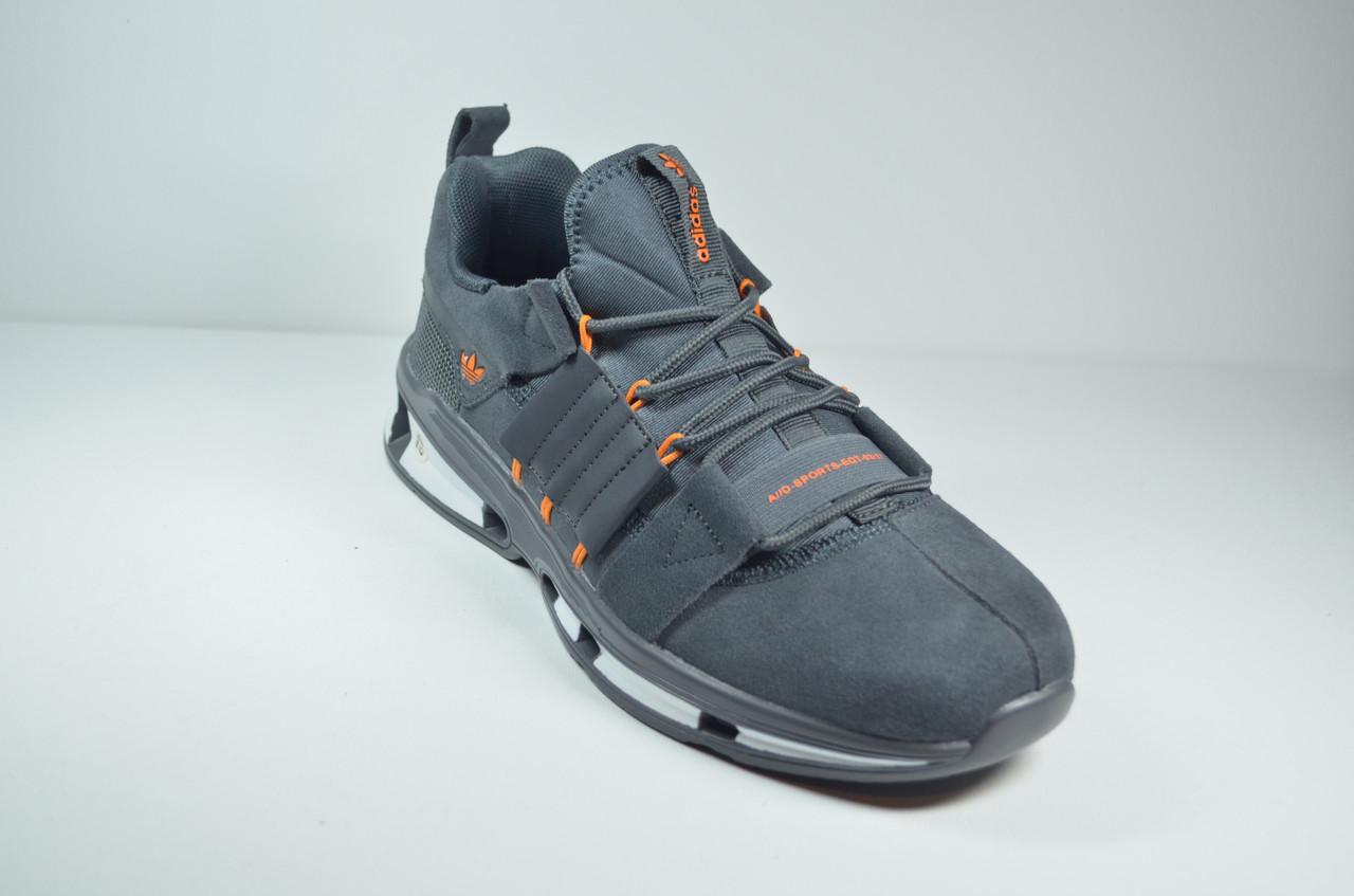 Мужские замшевые кроссовки серые в стиле EQUIPMENT (52123)