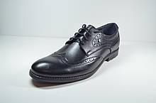 Мужские классические кожаные туфли великаны черные Vivaro 611