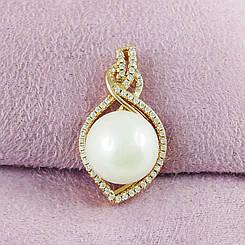 Кулон Xuping Jewelry Жемчужинка медицинское золото позолота 18К А/В 5788