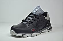Подростковые кожаные кроссовки черные Splinter 2820