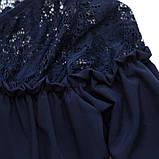 Блузка для дівчинки шкільна синя SmileTime Susie (ШКОЛА, фото 6