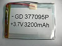 Полимерный аккумулятор GD 377095P (3,7V 3200 mAh)