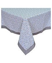Скатертина на стіл Ретро сірий з кантом 136*136 см
