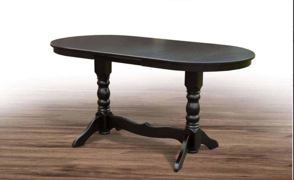 Большой, обеденный стол из массива дерева- Говерла (венге шоколад)