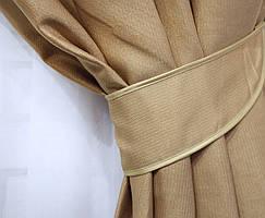 Плотная ткань структурой под лен . Высота 2.7м. Цвет горчичный 502ш