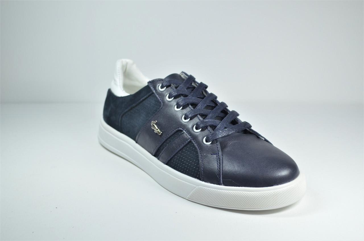 Чоловічі шкіряні кеди сині Multi-Shoes List