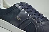 Чоловічі шкіряні кеди сині Multi-Shoes List, фото 2