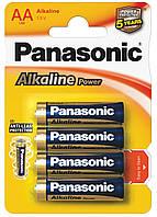 Щелочные батарейки Panasonic Alkaline Power LR6APB/4BP АА/LR6 блистер 4 шт.