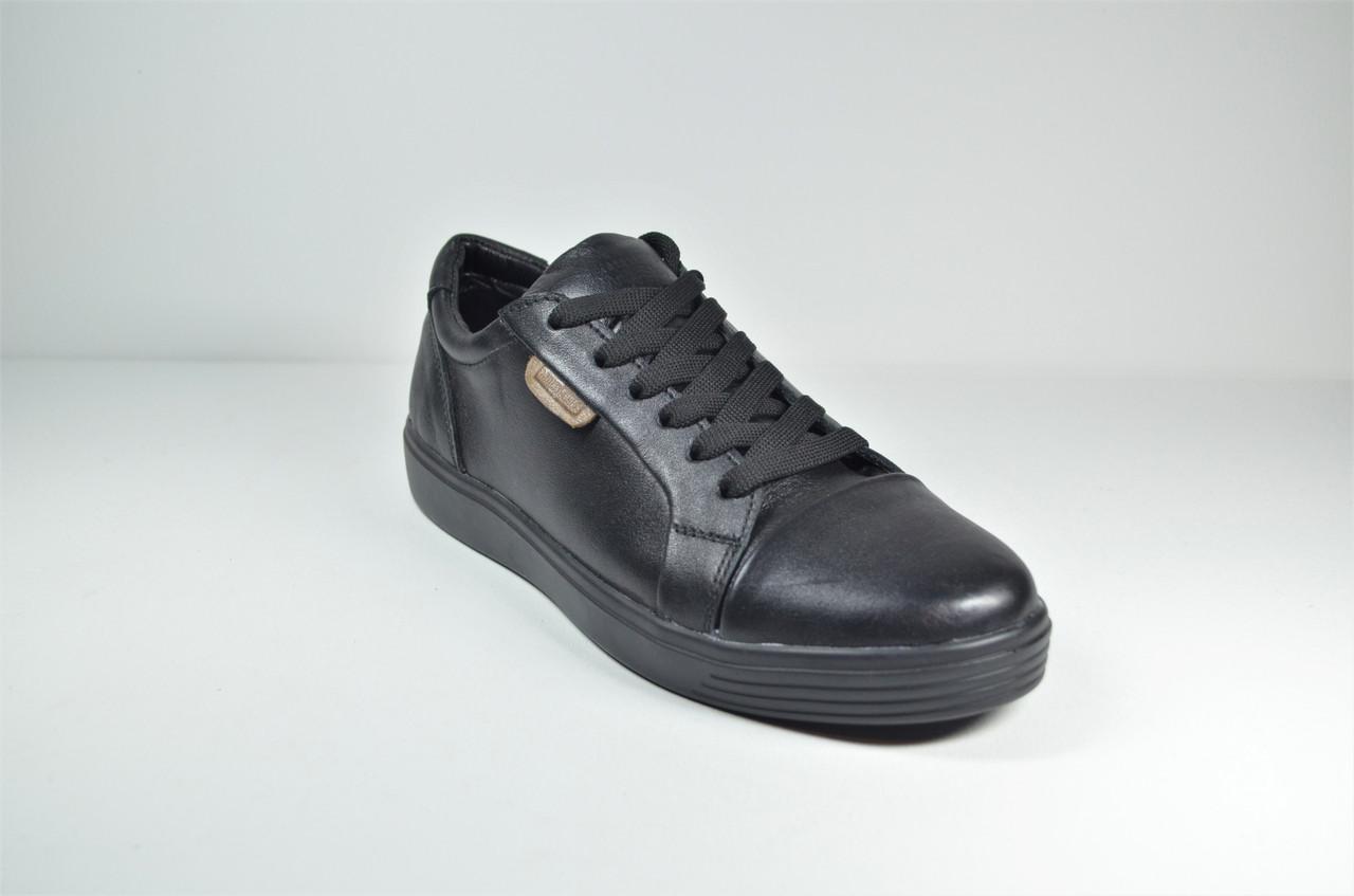 Шкіряні кеди чорні Multi-Shoes Biom