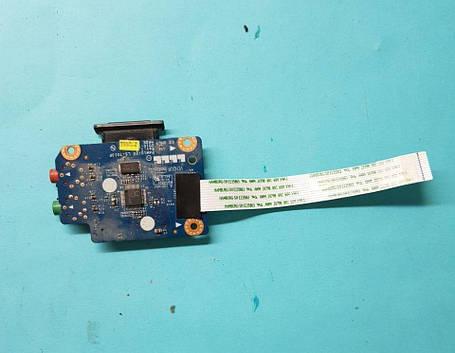 Картридер + звуковой разъём + микрофонный разъём на шлейфе Разборка ноутбука Lenovo 560e, фото 2