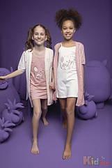 """ОПТОМ Ночная рубашка и халат """"Мышонок"""" для девочки 8-9 лет (8-9 лет)  Donella 8697840580896"""