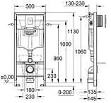 Инсталляционная система Grohe Rapid SL для унитаза в сборе, с Grohe Fresh (38827000), фото 2