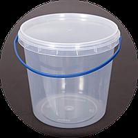 Ведро пластиковое пищевое 1 л (упаковка 100 шт). Бесплатная доставка!