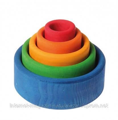 Пирамидка круглая разноцветная Grimms , фото 2