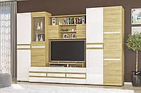 Гостиная стенка тумба под телевизор из ДСП и МДФ Гламур Мебель Сервис 2