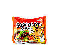 """Лапша быстрого приготовления со вкусом говядины """"Sogokimyun"""" HALAL SamYang 120 г, фото 1"""