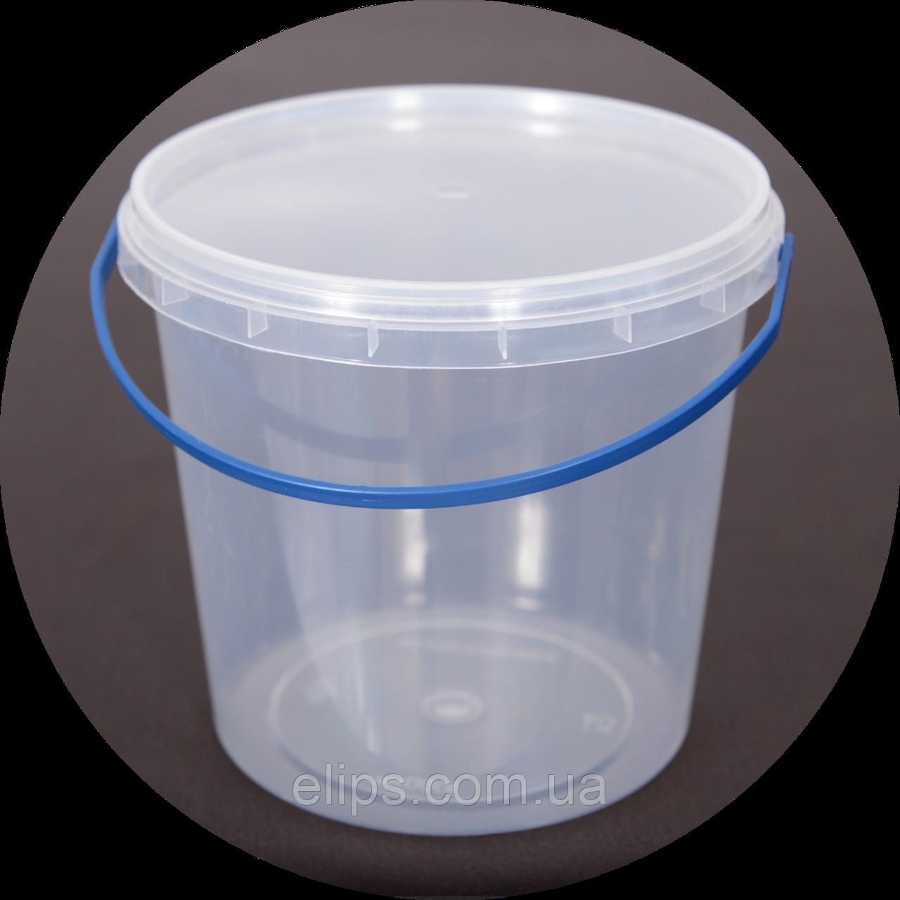 Ведро пластиковое, пищевое 1.1 л (упаковка 100 шт). Бесплатная доставка!