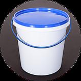 Ведро пластиковое, пищевое 1.1 л (упаковка 100 шт). Бесплатная доставка!, фото 2
