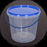 Ведро пластиковое, пищевое 1.1 л (упаковка 100 шт). Бесплатная доставка!, фото 3