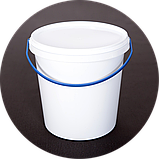Ведро пластиковое, пищевое 1.1 л (упаковка 100 шт). Бесплатная доставка!, фото 4