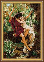 Набор для вышивания крестиком NKF Влюбленные на качелях R198 14ст
