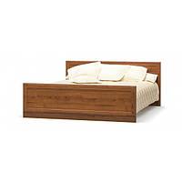 Кровать двуспальная в спальню из ДСП 160 Даллас Мебель Сервис с ламелями