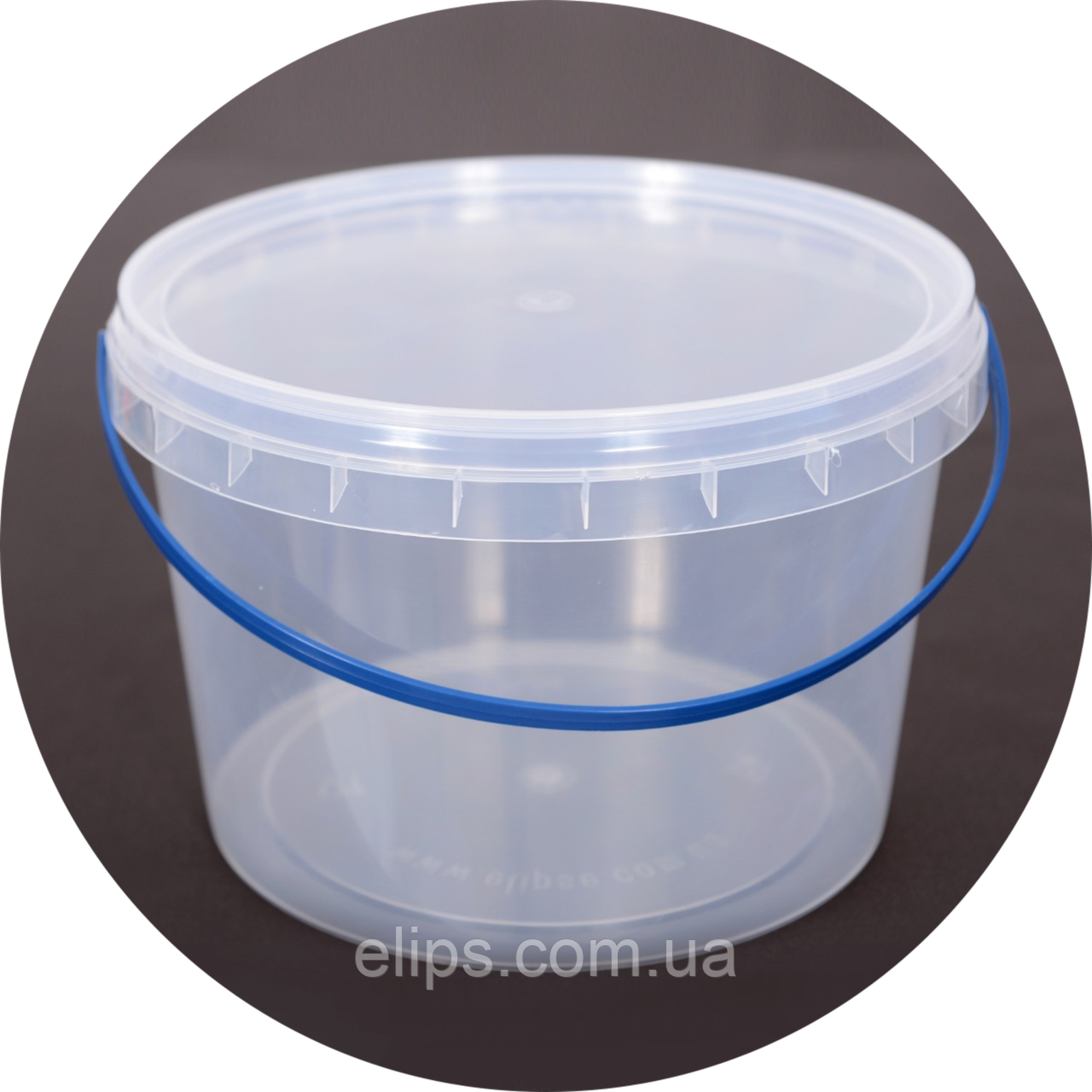Ведро пластиковое пищевое 2.3 л (упаковка 50 шт). Бесплатная доставка!