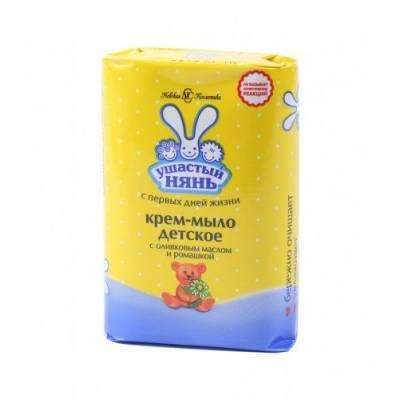 Крем-мыло УШАСТЫЙ НЯНЬ ромашка и оливковое масло 90гр