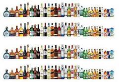 """Вафельна картинка  """"Алкогольний Бордюр"""""""