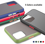 Чехол бампер soft-touch для Xiaomi Redmi 8 / Xiaomi Redmi 8A Цвет чехла тёмно-синий, кнопки - салатовые, фото 3