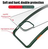 Чехол бампер soft-touch для Xiaomi Redmi 8 / Xiaomi Redmi 8A Цвет чехла тёмно-синий, кнопки - салатовые, фото 4