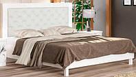 Кровать с мягким изголовьем Мебель Сервис Ева 160 + основание под матрас 160х200 белый