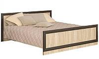 Кровать Мебель Сервис Даллас 160 + основание под матрас 160х200 венге темный/дуб самоа