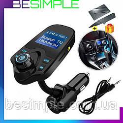 ФМ модулятор в машину T10 / ФМ-трансмітер / Bluetooth MP3 ресивер