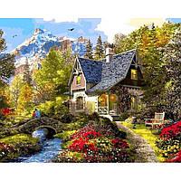 Картина раскраска по номерам на холсте 40*50см Babylon VP1154 Вечер в Альпах