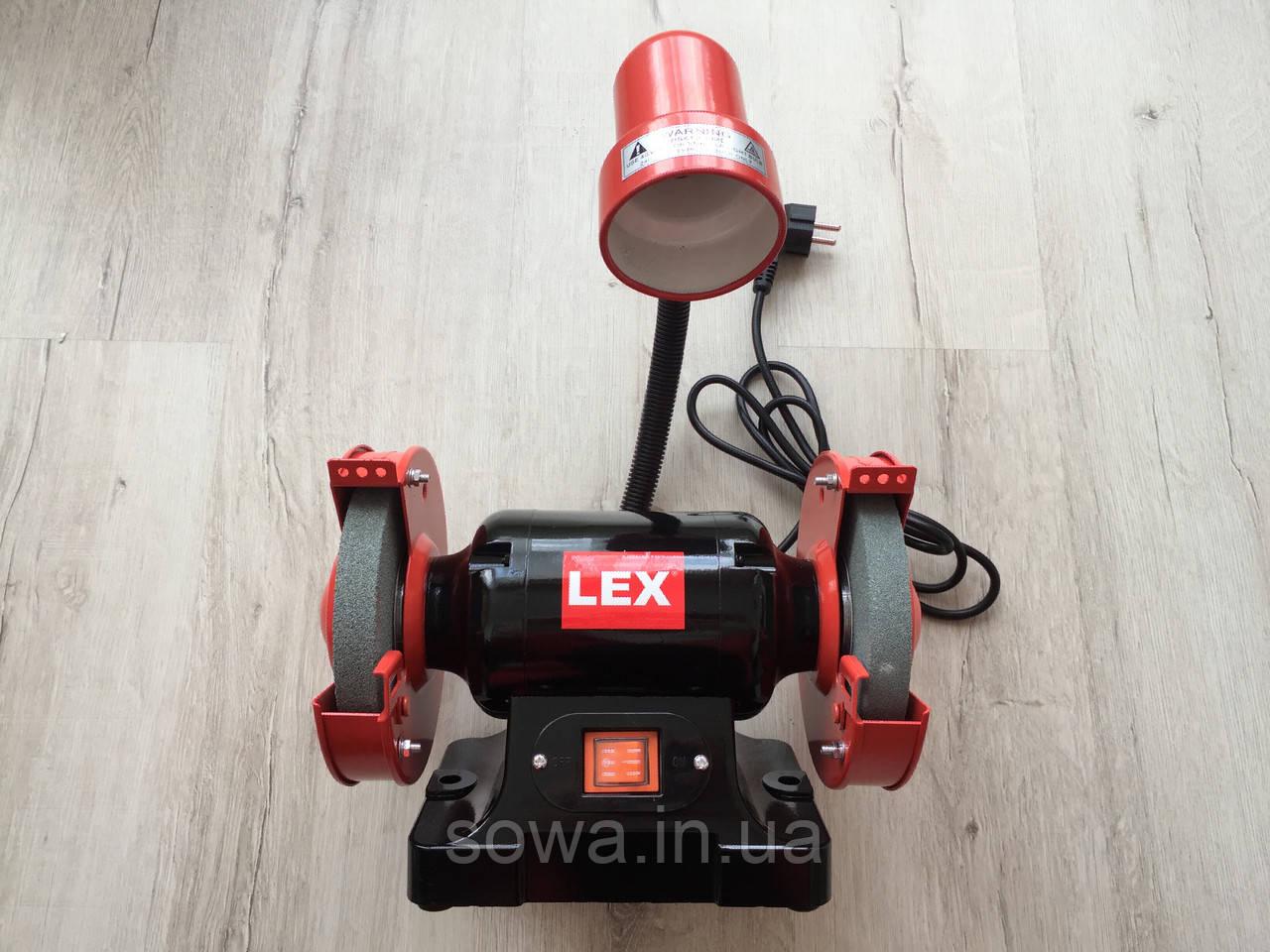 Точильный станок Lex LXBG14 с подсветкой / 1400Вт