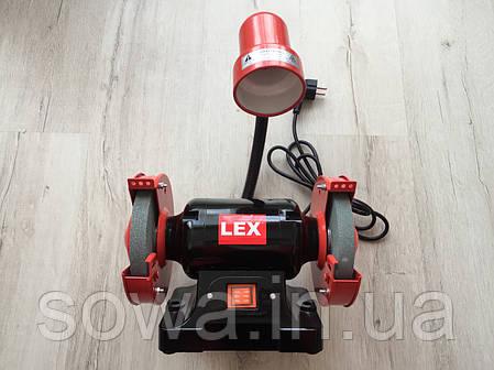 Точильный станок Lex LXBG14 с подсветкой / 1400Вт, фото 2