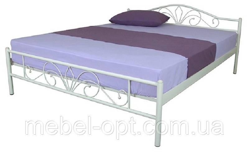 Двуспальная металлическая кровать Lucca 1400x2000 мм beige, код E1915