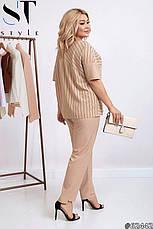Женский деловой летний брючный костюм размеры48-62, фото 2