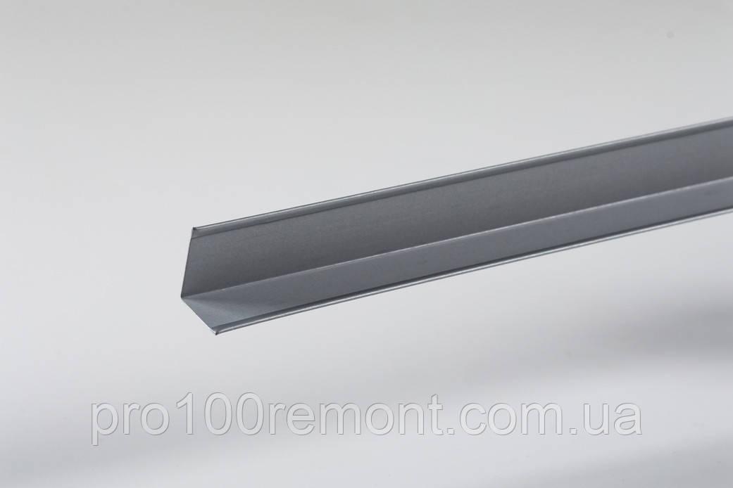 Угол периметриальный для грильято 19х24мм серый металлик 9006