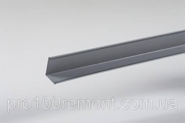 Угол периметриальный для грильято 19х24мм серый металлик 9006, фото 2