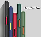 Чехол бампер soft-touch для Xiaomi Redmi 8A Цвет чехла чёрный, кнопки - красные, фото 2