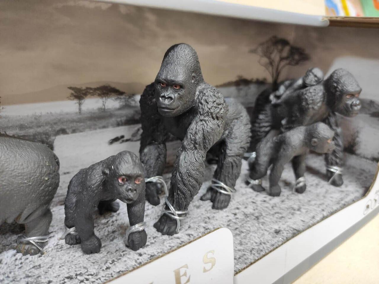 Набор животные африки Series Model большая Q 9899-D8 бегемоты, горилы