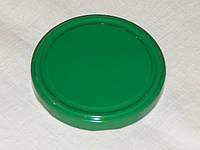 Крышка закаточная твист-офф размер 100 мм  зеленая (на банки с широкой горловиной)