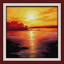 Набор для вышивания крестиком NKF Закат на море  F117 14ст
