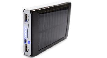 Мощный Solar power bank  Павербанк с LED фонариком