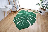 Ковер в зал, в спальню в виде тропического листка