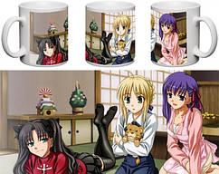 Кружка чашка  Fate: Stay Night - Сэйбер, Рин, Сакура
