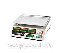 Весы торговые Grunhelm GSC-052 : 50 кг   сеть или аккумулятор